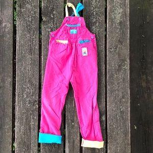 Vintage Osh Kosh Overalls Pants Bibs Color Block